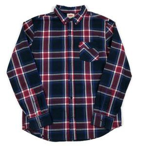 Levi's Plaid Button Down Long Sleeve Shirt Medium